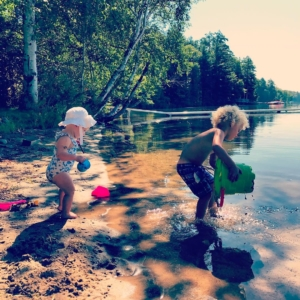 babies buckets and beaches muskokamornings cottagingwiththefam loonscalling summer
